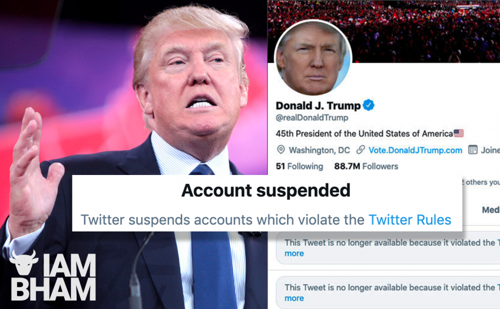 "Donald Trump permanently banned from Twitter to prevent ""further incitement to violence"""