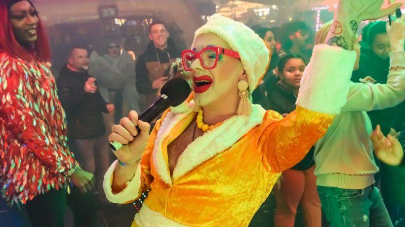 Ginny Lemon at the Bullring's Jingle Bell Jam in Birmingham in December 2019