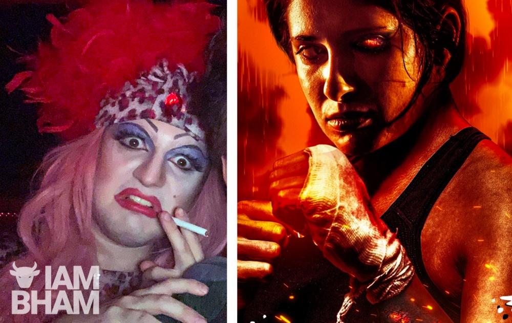 Harvey McDonald (left) stars as Jan Divine in new horror film Hellkat