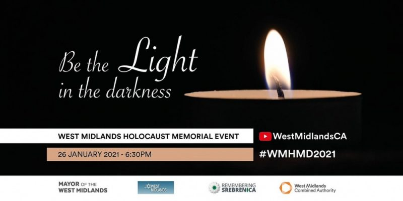 The WMCA is holding a virtual service for Holocaust Memorial Day