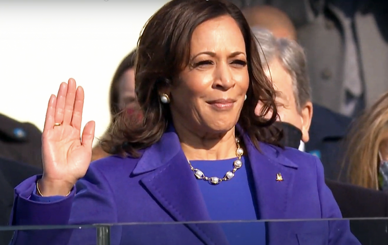 Kamala Harris is sworn in as Vice President of the United States