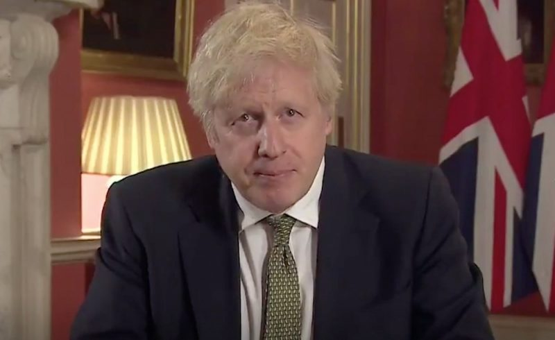 Prime Minister Boris Johnson announces third national England lockdown from Downing Street on 04.01.2021