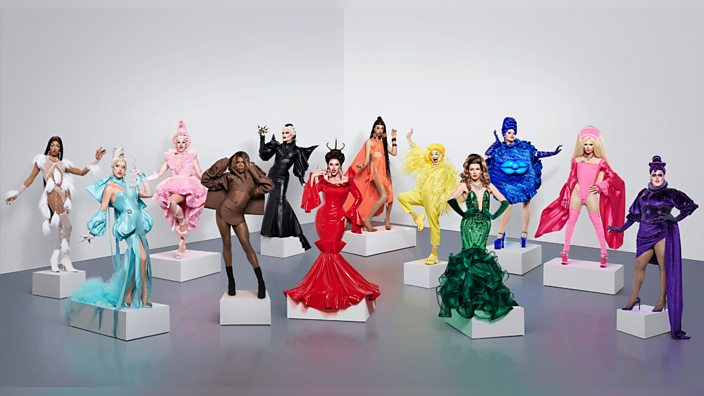 12 brand new drag queens battle it out in series 2 of Ru Paul's Drag Race UK