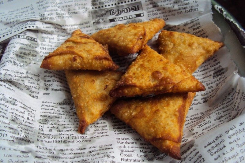One arrested man was found with a samosa secreted between his buttocks during a search