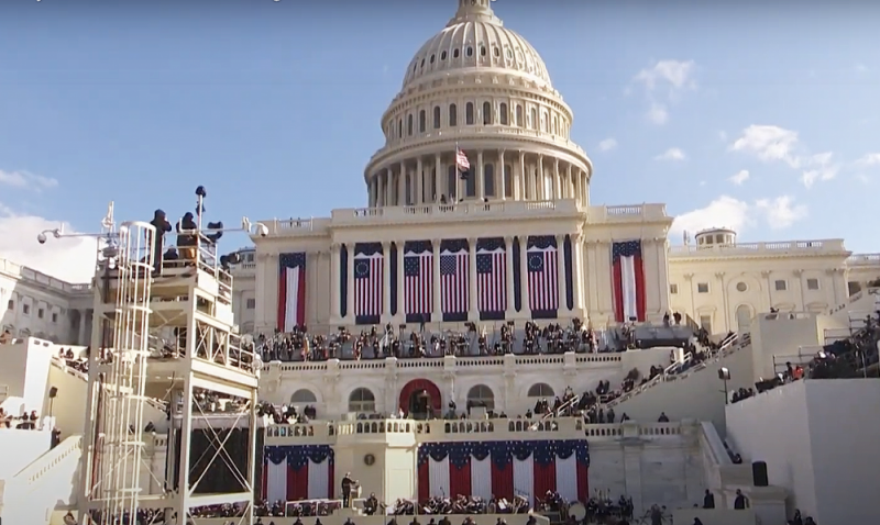 The inauguration ceremony took place at The Capitol in Washington in line with tradition