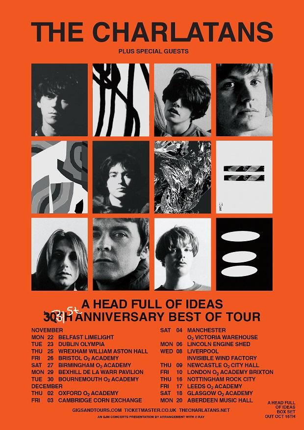 The Charlatans 30th anniversary UK and Ireland 2021 tour