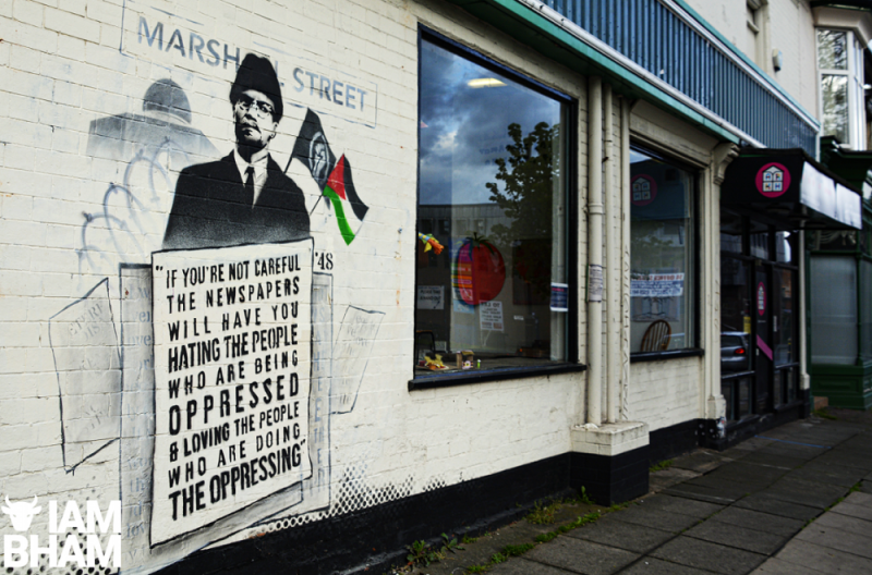 Mohammed Ali unveils Malcolm X mural in solidarity with people of Palestine