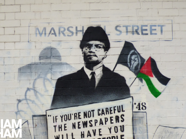 Birmingham street artist Mohammed Ali has painted a powerful new mural in support of Palestine