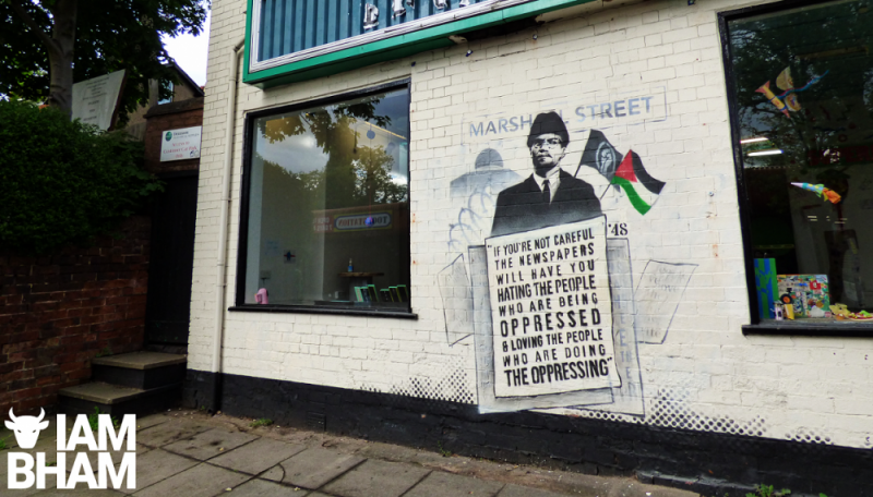 Mohammed Ali's latest mini mural appears on the Art Rooms venue in King Heath High Street