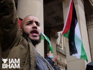 Protestors march through Birmingham city centre in solidarity with Palestinians