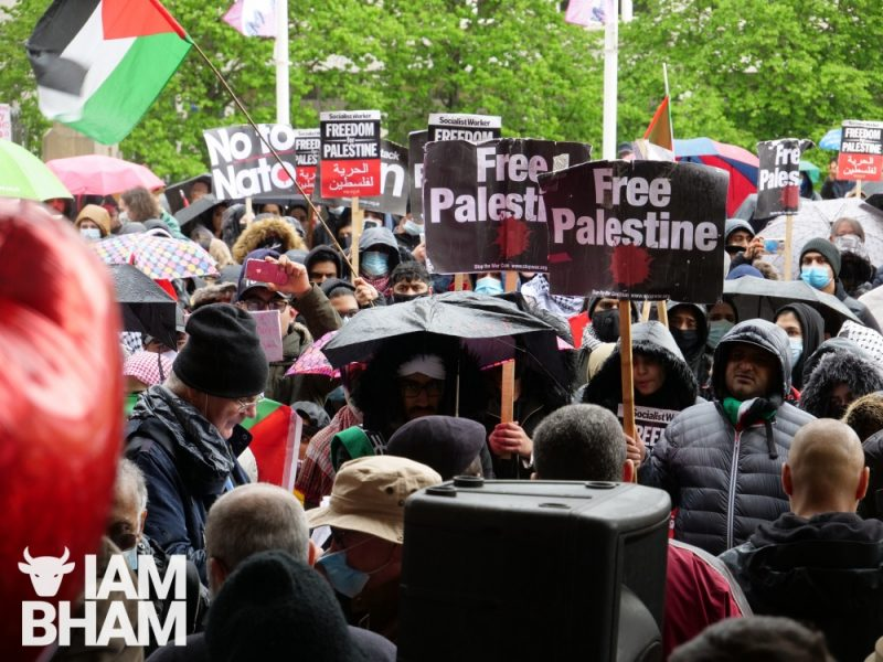 Organisers said over a thousand people attended the demonstration