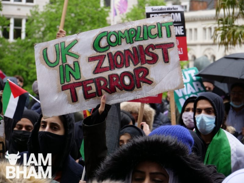 The Birmingham protest was the most recent in a series of rallies held over the last two weeks for Palestine