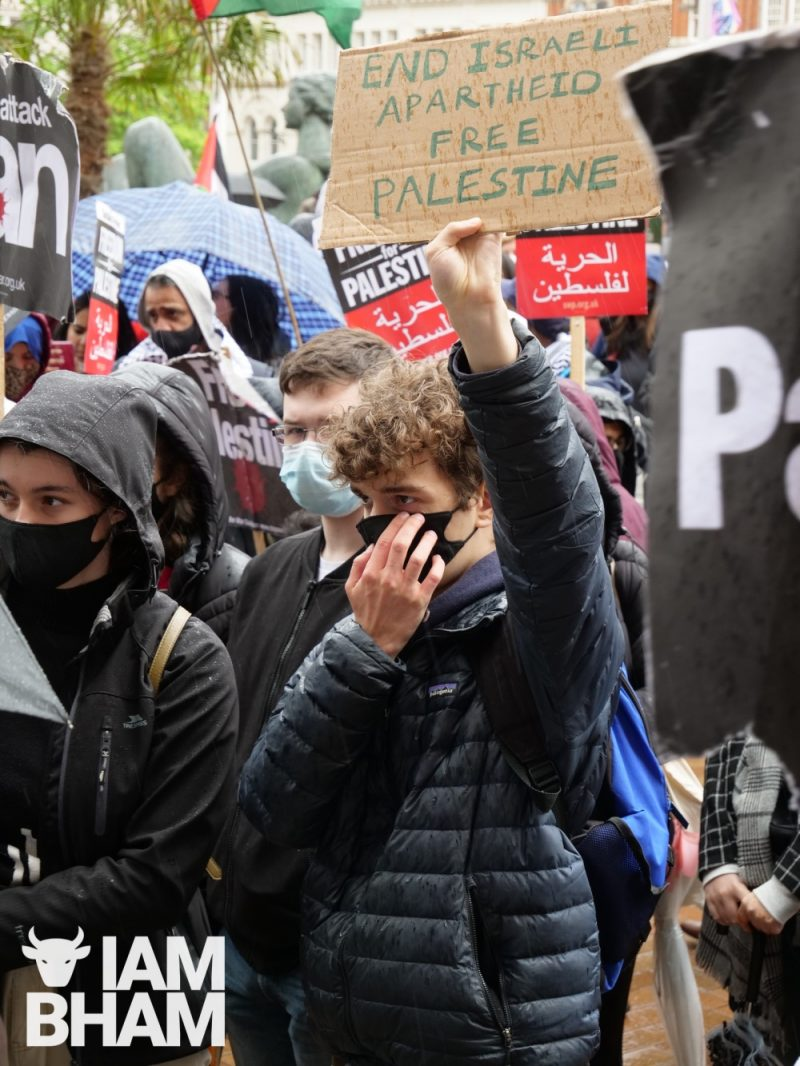 Protesters called for an end to 'Israeli apartheid'