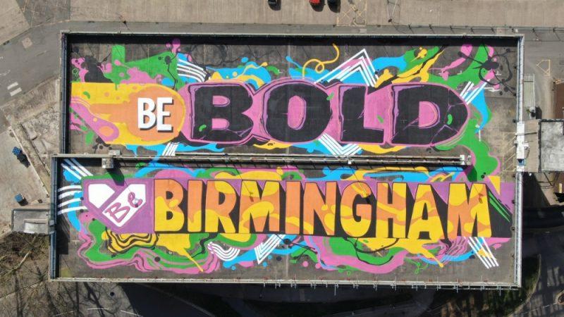The finished 'Be Bold, Be Birmingham' art by Joshua Billingham (Gent48)