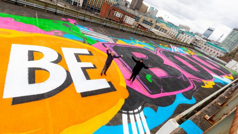 'Be Bold, Be Birmingham' street art mural marks the beginning of one of the most significant development opportunities in the city centre