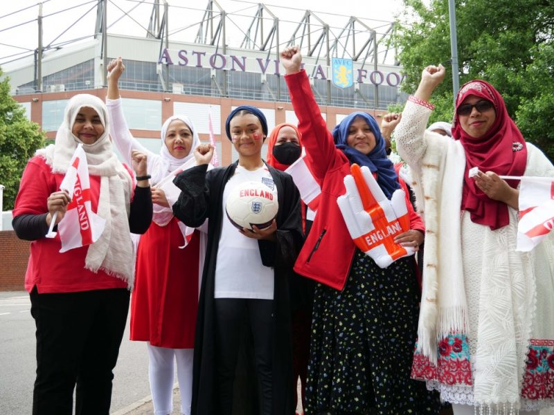 The women from Saathi House in Birmingham work closely with Aston Villa FC to stamp our racism in football