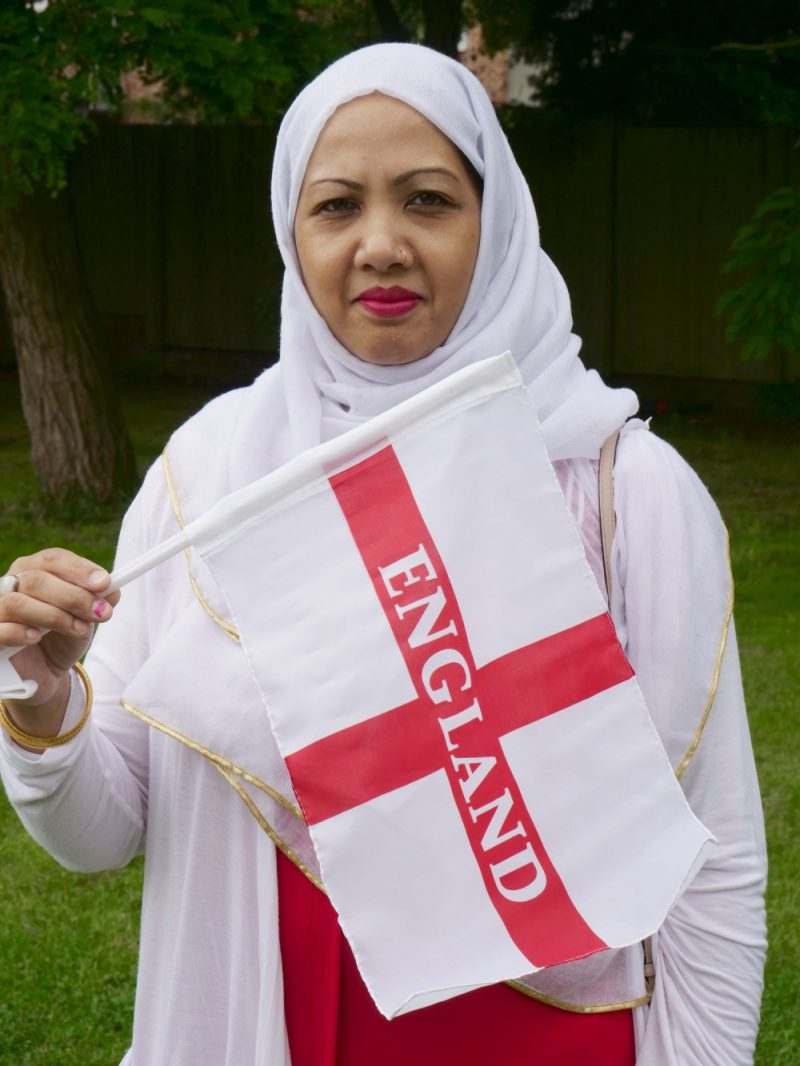 Meena Bibi, 47, runs fitness groups at Saathi House and feels England players have been inspirational