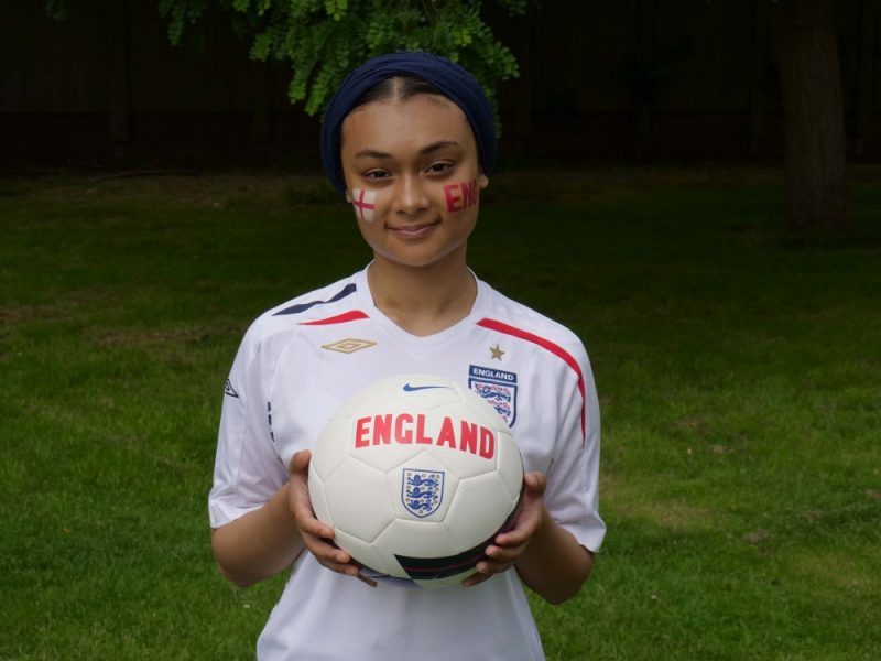 Zarah Begum, 16, is supporting England in the Euro 2020 final