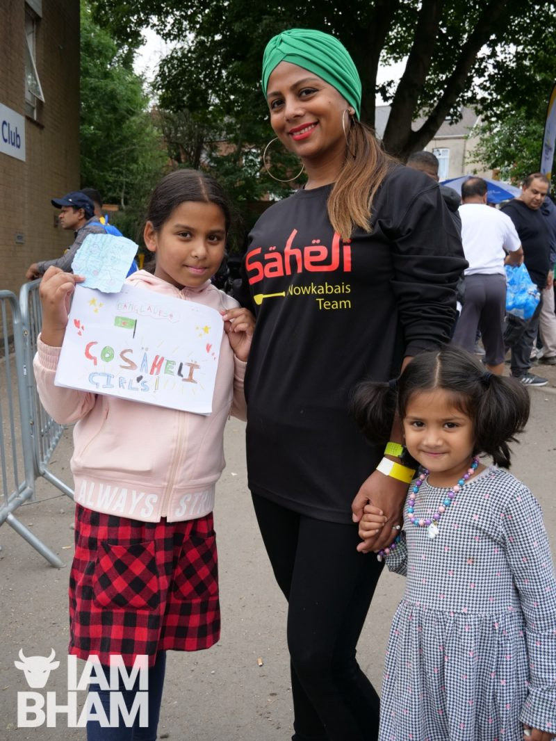 Saheli Hub women's team member with family
