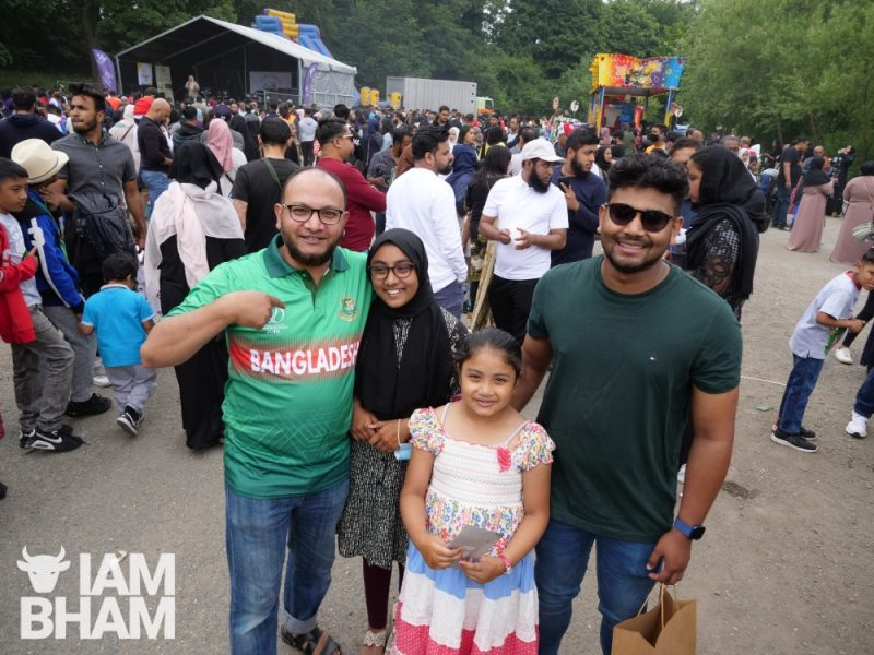 Family at the funfair