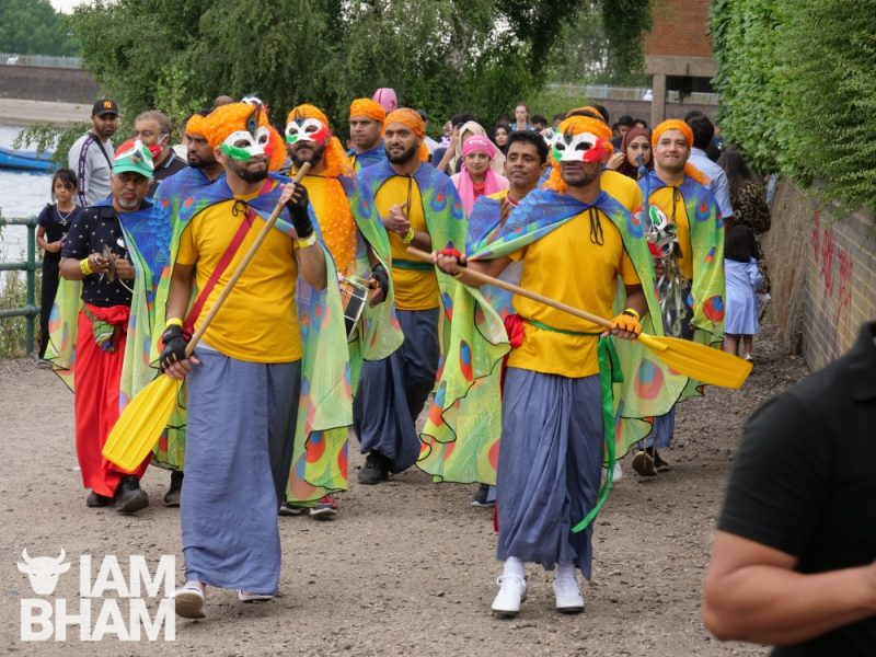 Boat racers in costume