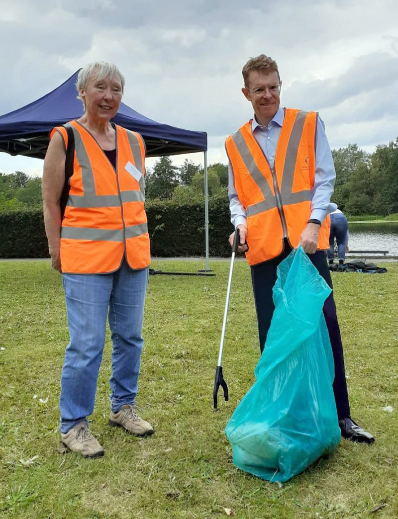 Andy Street, the Mayor of the West Midlands and Valerie Edkins, treasurer of Friends of Perry Park