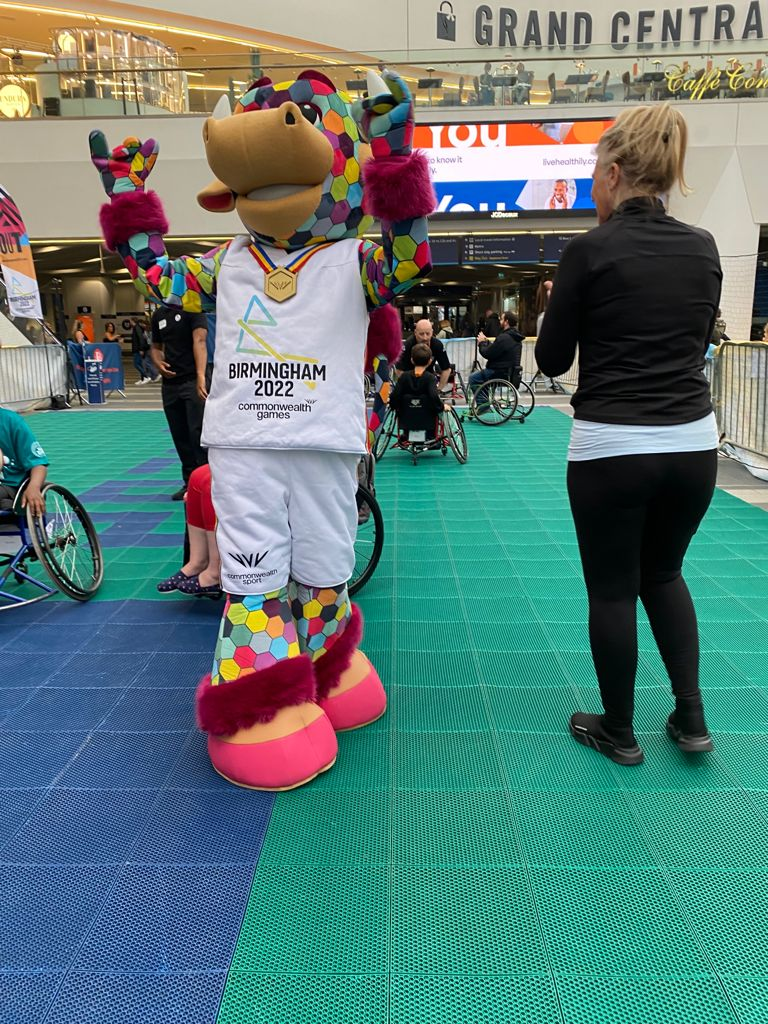 Birmingham 2022 Commonwealth Games roadshow at New Street Station on 21.08.2021 a