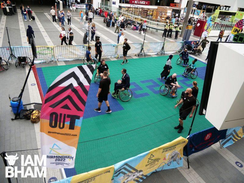 Birmingham New Street Station 2022 Commonwealth Games roadshow 21.08.2021