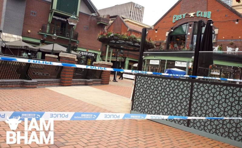 A 50-year-old man has died after being involved in a disorder in Brindley Place, Birmingham