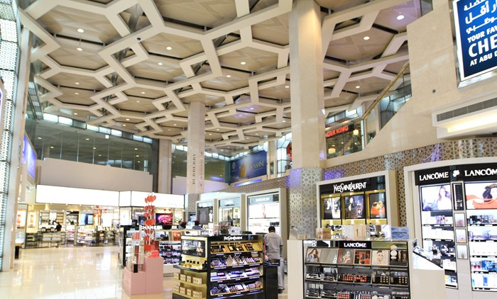 Inside the actual Abu Dhabi International Airport in the UAE