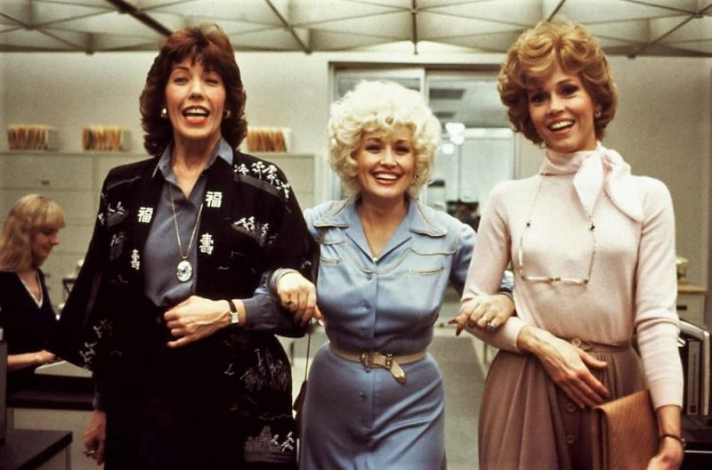 9 to 5 is based on the original Oscar-nominated 1980 movie starring (L-R) Lily Tomlin, Dolly Parton and Jane Fonda
