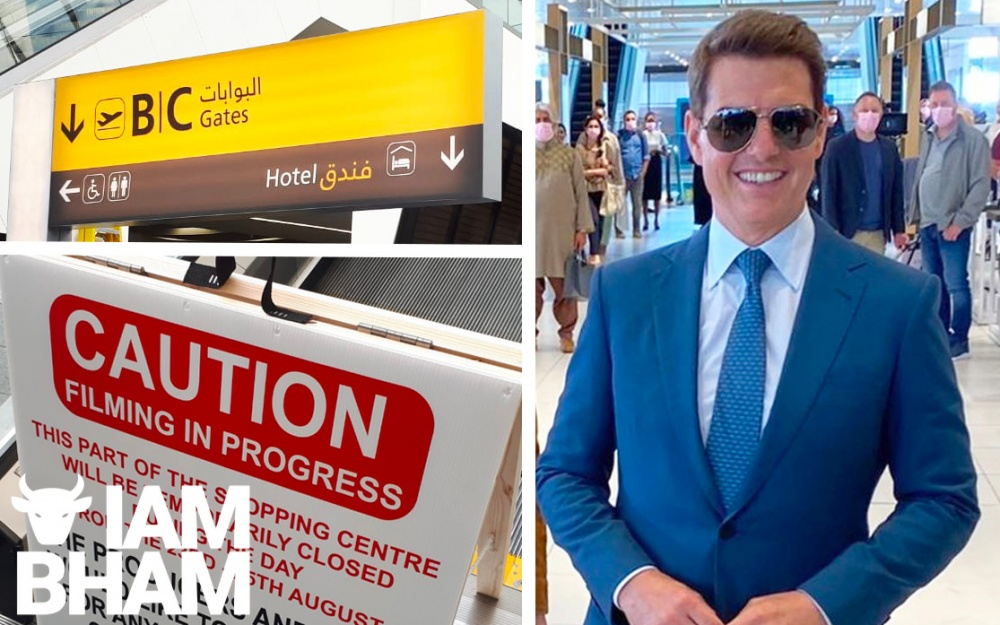Birmingham New Street Station transformed into Abu Dhabi airport for Mission Impossible filming with Tom Cruise