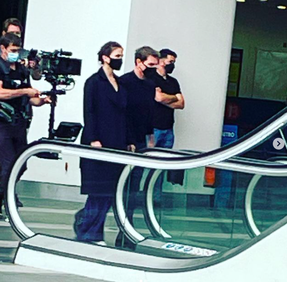 Tom Cruise captured filming test scenes in New Street Station earlier this month in preparation for current production