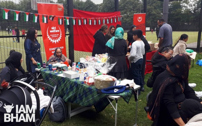 The Palestine fundraising event was supported by charity SKT Welfare