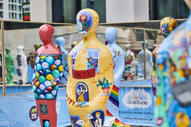 Wild in Art have created the sculptures in partnership with local charities and businesses