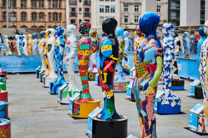 The 'Gratitude' sculpture on display in Chamberlain Square in Birmingham