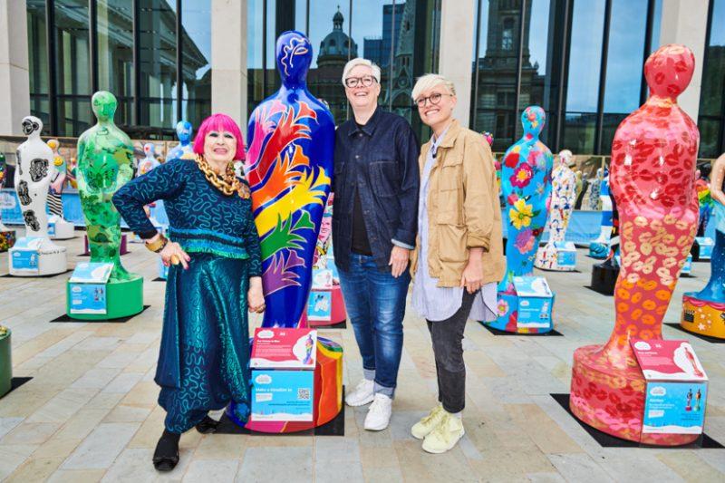 Dame Zandra Rhodes and Birmingham artists Lucky Pablo