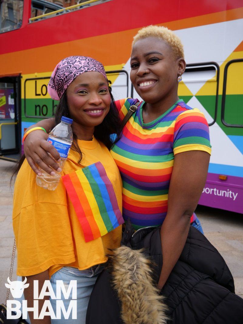 Birmingham city centre was adorned with rainbows during Birmingham Pride 2021 celebrations