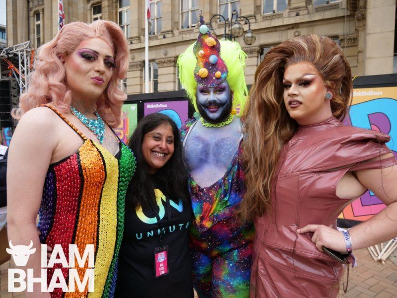 Birmingham Pride's Head of Diversity and Inclusion, Saima Razzaq, at the launch of the Pride Parade