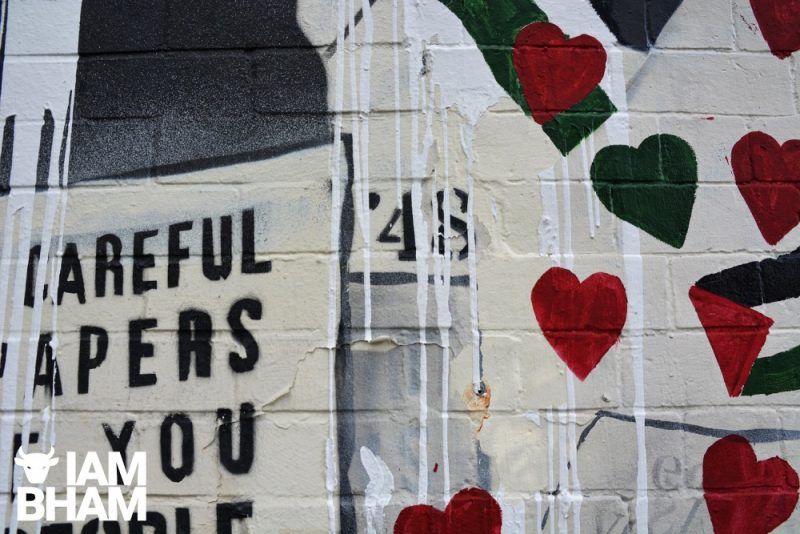 """The number """"48"""" - a possible reference to the 1948 Palestinian exodus - has also been defaced"""
