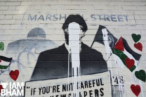 Community comes together to salvage defaced Malcolm X mural supporting Palestine