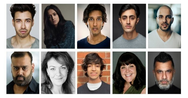 The cast of 'East Is East' for its 25th anniversary theatrical run