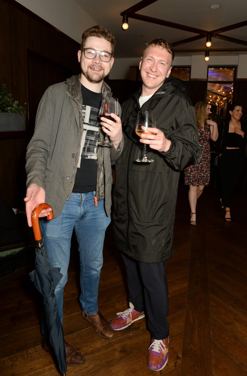 LONDON, ENGLAND - SEPTEMBER 09: Joe Lycett and partner attend the launch party for the Grand Hotel Birmingham on September 9, 2021 in London, England. (Photo by David M. Benett/Dave Benett/Getty Images for The Grand Hotel Birmingham)