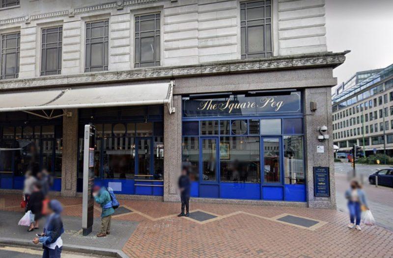 The Square Peg pub in Corporation Street in Birmingham